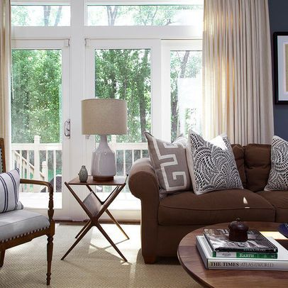 Chocolate brown sofa | Brown couch living room, Brown sofa living .