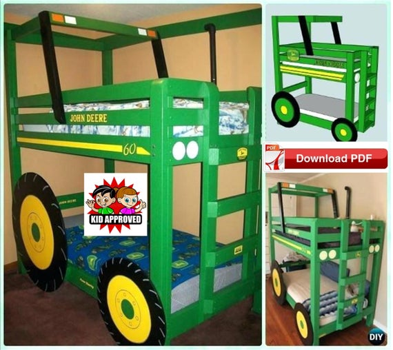Tractor Bunk Beds Plans/DIY Twin Bunk Bed Plans/Bunk Bed | Et