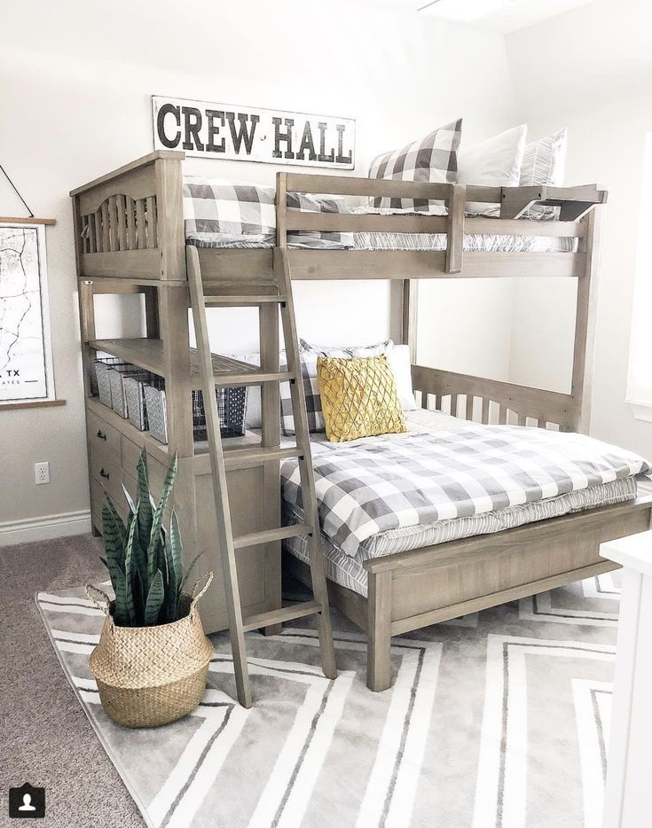 Our Faux Farmhouse | Bunk bed rooms, Shared bedrooms, Bunk beds bo