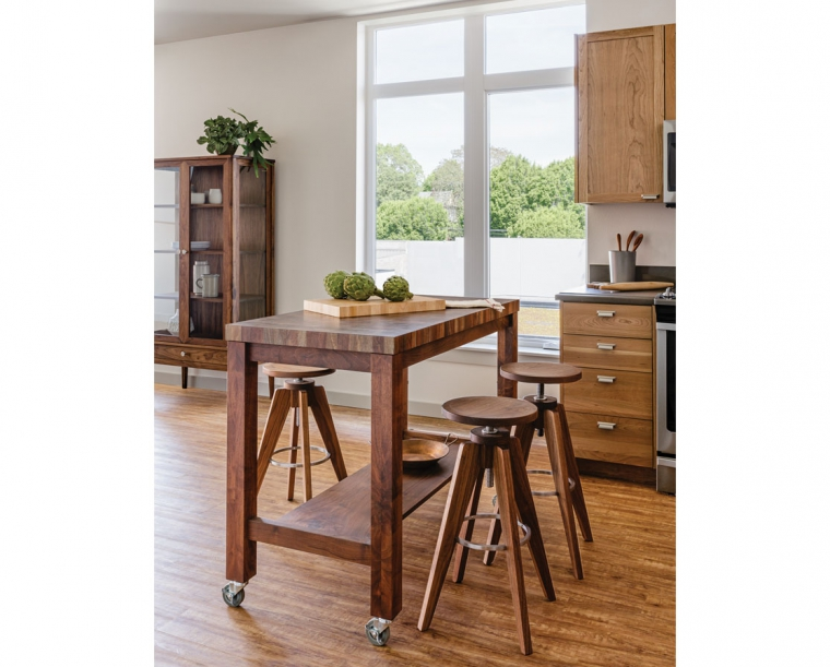 Butcher Block Island Table for Kitchen   The Joine