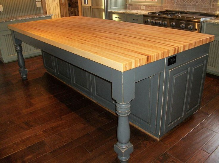 Butcher Block Kitchen Island With Seating