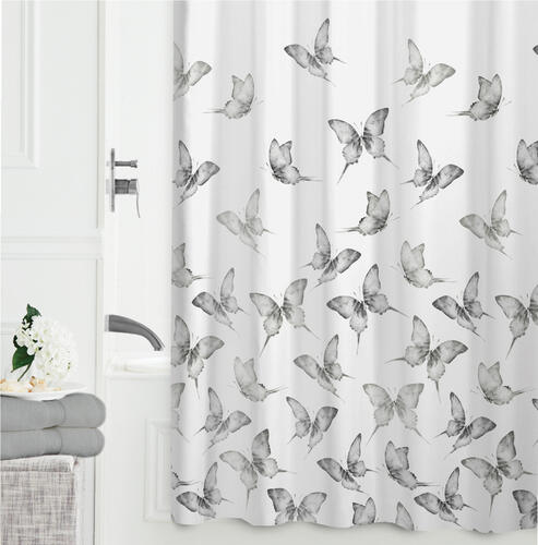 Zenna Home® Butterfly Polyester Fabric Shower Curtain at Menards