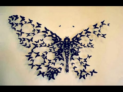 DIY Butterfly Wall Decor | Wall Decor Idea | How to cut paper .
