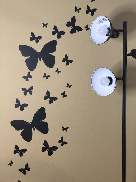 Butterfly Wall Decals-Black | Butterfly wall decals, Wall decals .