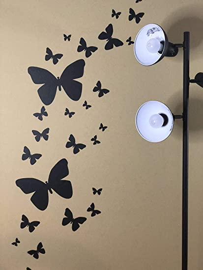 Amazon.com: Create-A-Mural Butterfly Wall Decals (26) Butterfly .