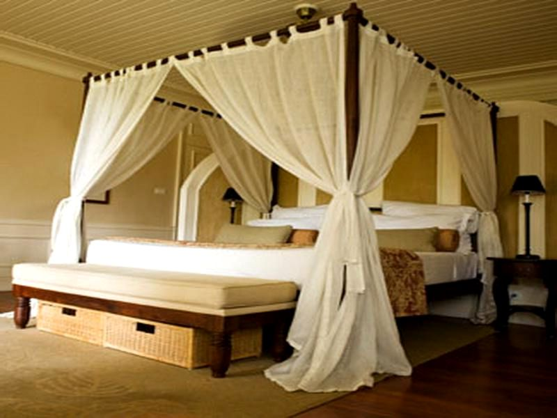 Enhance Your Fours Poster Bed with Canopy Bed Curtains - MidCityEa