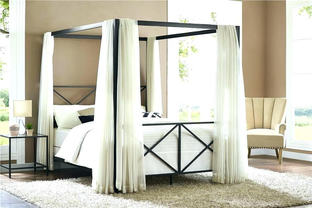 Bed Frame Metal and Curtain — Best Room Design : Comfortable .