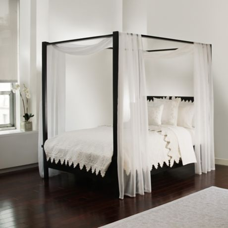 Scarf Sheet Bed Canopy Curtain in White | Bed Bath & Beyo