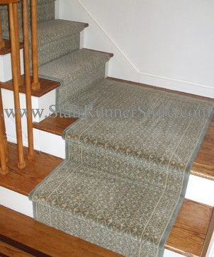 Stair Runner Installed with a custom fabricated landing creating a .
