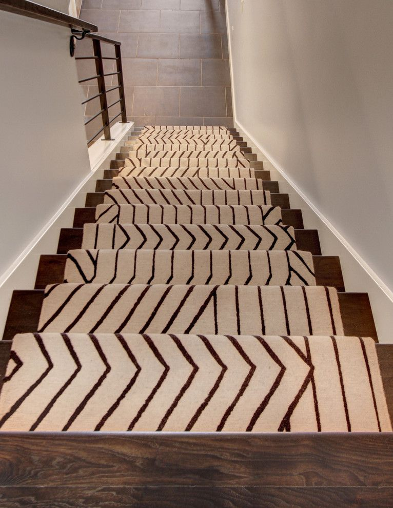 Modern Stair Runners Staircase Contemporary with Ango Area Rugs .