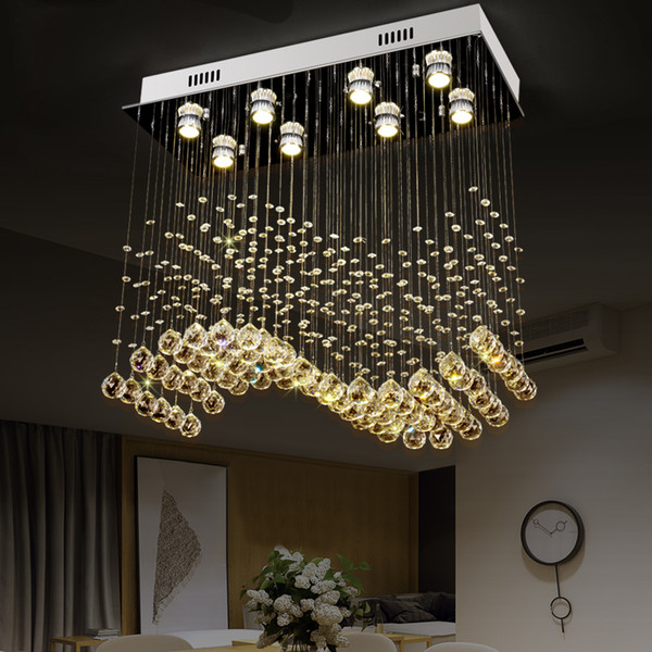 2019 Rectangle Modern Crystal Ceiling Lamps For Living Room .