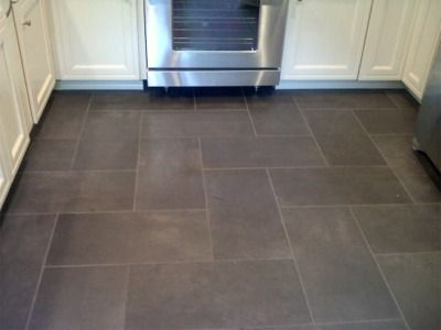 dark tile kitchen | Kitchen floor tile patterns, Slate floor .