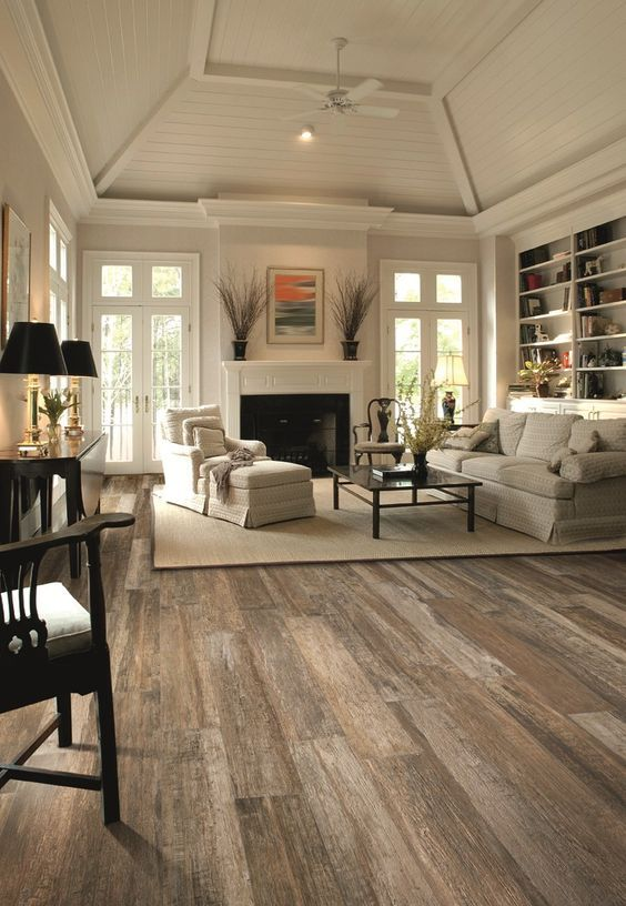 Rustin reclaimed wood floor look - without the wood! Get this look .