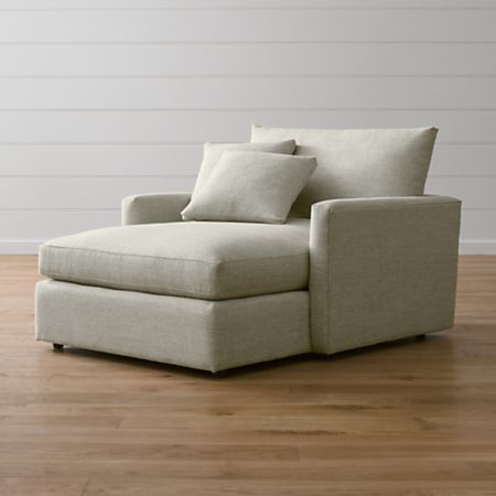 Lounge II Chair and a Half Chaise Lounge + Reviews | Crate and Barr