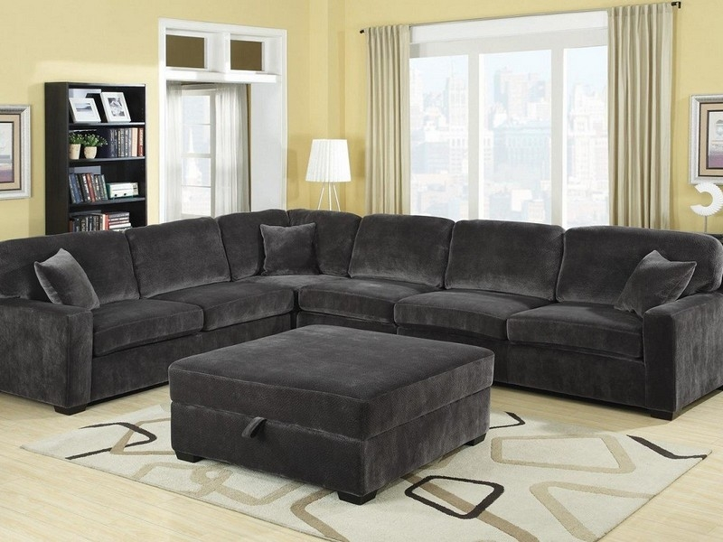 Stylish Charcoal Gray Sectional Sofa With Chaise Lounge - Father .