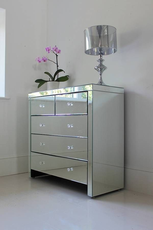 Large Mirrored Chest Of Drawers | Mirrored bedroom furniture .