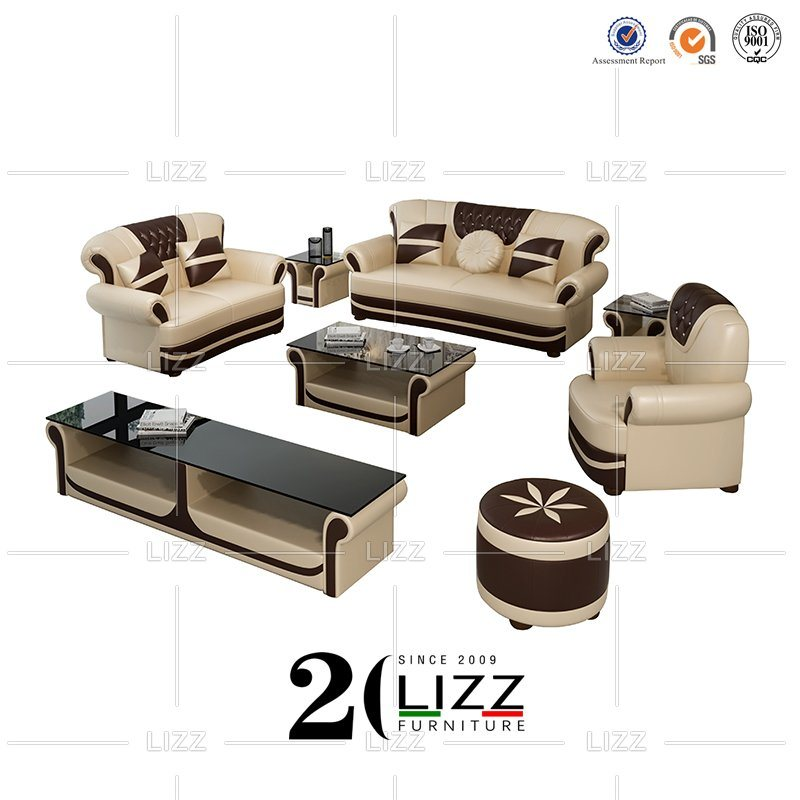China Leather Chesterfield Furniture Sectional Home Sofa Set .