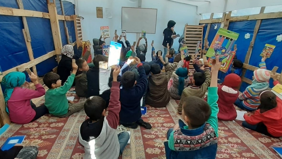 This school at a refugee camp in Lesbos is a safe haven for childr