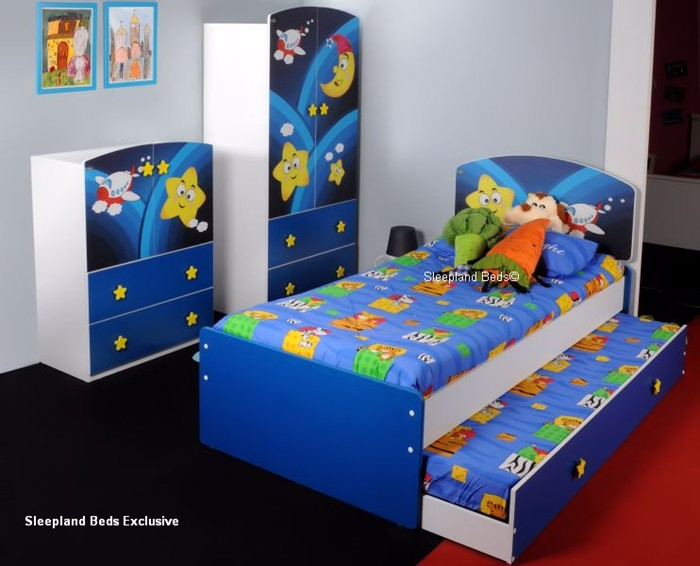 Beds : Childrens Bedroom Furniture Set Super Star Galaxy Guest Bed .
