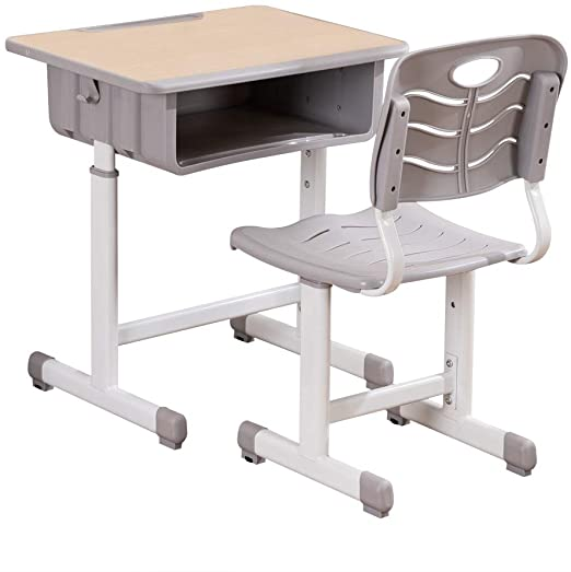 Amazon.com: ShowMaven Student Desk and Chair Combo, Height .
