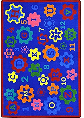 Amazon.com: Joy Carpets Geared for Learning Childrens Rugs D .