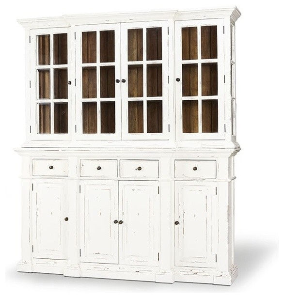 Display Cabinet, Hutch, Genoa, White Harvest and Driftwood .