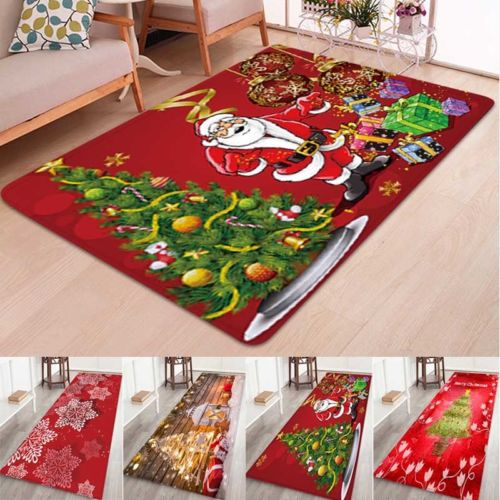 Christmas Rugs Anti Skid Area Rug Dining Room Home Bedroom Carpet .