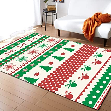 Amazon.com: Non-Slip Christmas Rugs, Dining Room Carpet Bedroom .