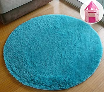 Amazon.com: PAGISOFE Ultra Soft Round Area Rug for Play Tent .