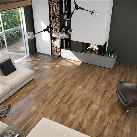 NUVELLE Manoir - Rectified Classic Wood Walnut Ceramic & Porcelain .