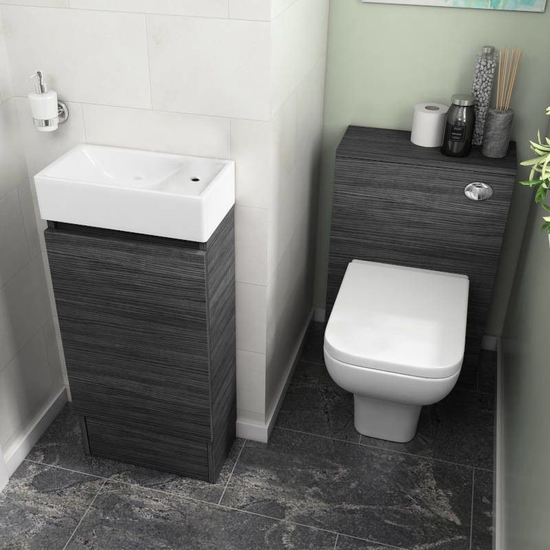 Hacienda 410 Suite Floor Vanity Unit and BTW in 2020 | Cloakroom .