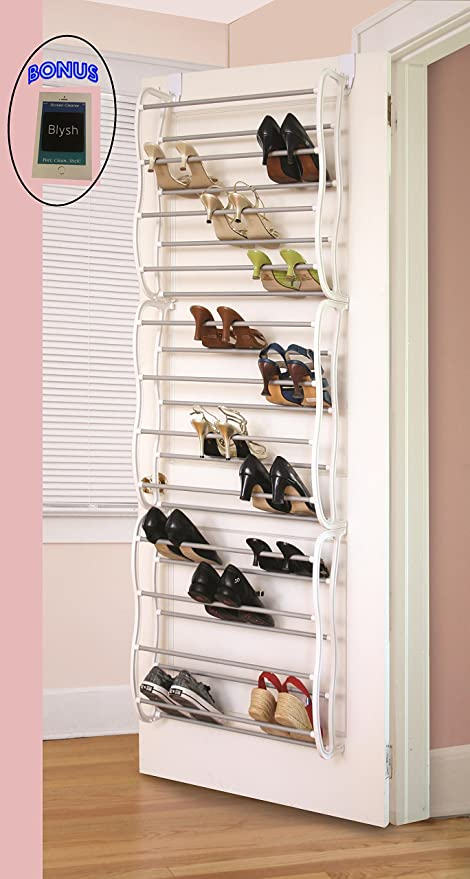 Amazon.com: Over The Closet Shoe Storage Rack. Can Also Be Wall .