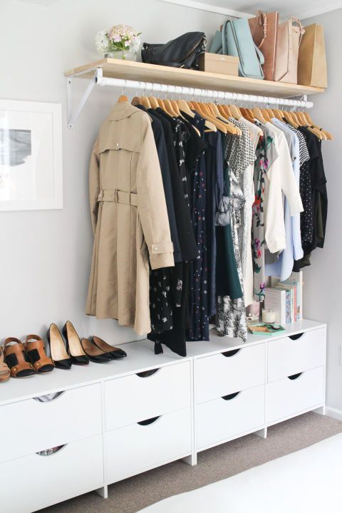 14 Ingenious Storage Tricks For A Small Bedroom With No Closets .