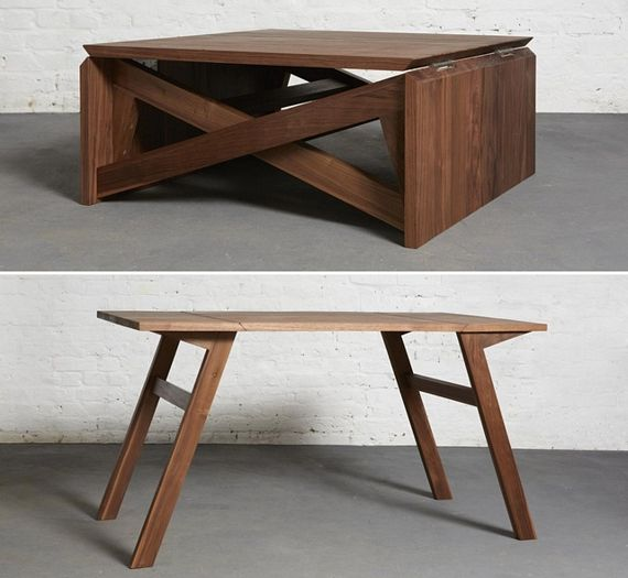 Awesome Design: MK1 Coffee Table Folds Out Into A Dining Table .