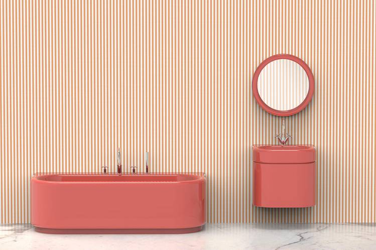 Colorful Fixtures (Finally) Return to Bathroom Design - W