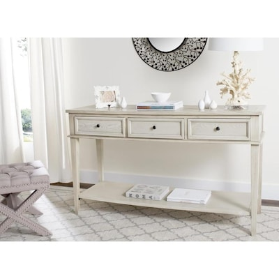 Safavieh Manelin White Wash Casual Console Table at Lowes.c