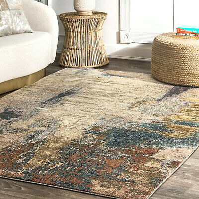Contemporary Area Rugs Modern Abstract Pattern Distressed Carpet .