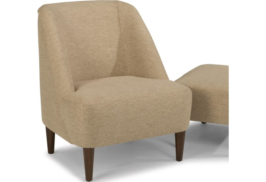 Flexsteel Molly Contemporary Chair with Exposed Wood Legs .