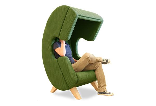 Colorful Contemporary Chairs in Headset Shape, Unique Furniture .