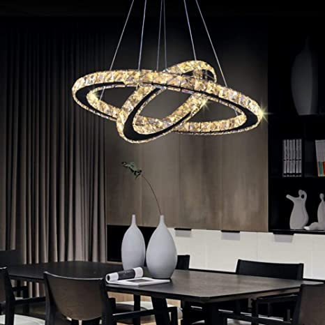 LED Chandelier, Contemporary Chandeliers Crystal Ceiling Pendant .
