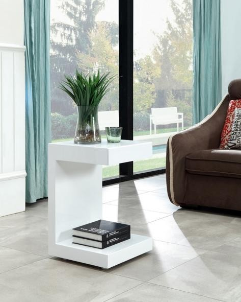 Aramis White Modern Side Tables | Contemporary Side Tabl