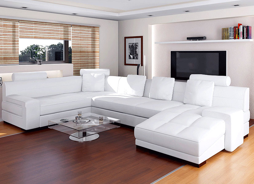 Furniture Design Ideas Perfect White Leather Living Room .