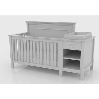 Lolly & Me Cogan 2 Piece Convertible Crib and Changing Table Set .
