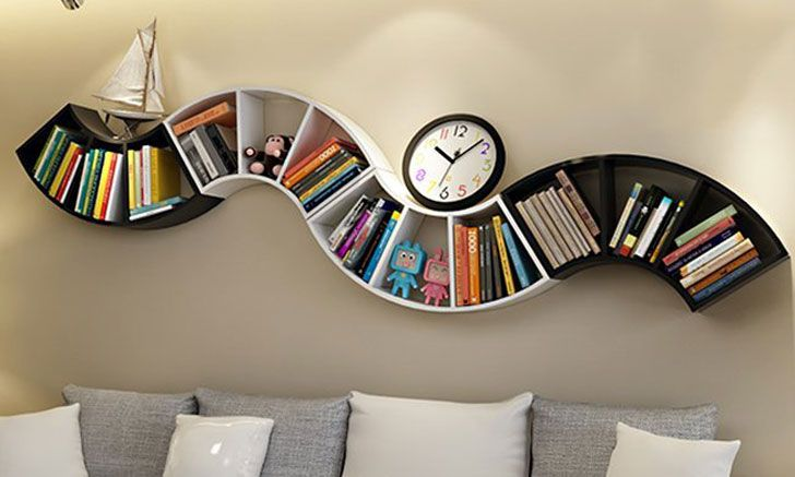 40 Incredibly Cool Bookshelves That Are Unique | Cool bookshelves .