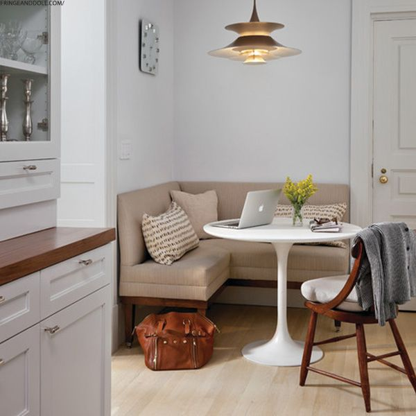 How to Style a Small Dining Space | Dining nook, Corner seating .