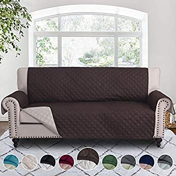 Amazon.com: RHF Reversible Loveseat Covers for Dogs, Couch Covers .