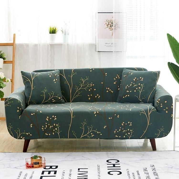Forest Green Tree Branch Pattern Sofa Couch Cover | Sofa covers .