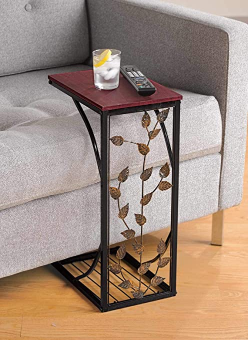 Amazon.com: Sofa Side and End Table, Small - Metal, Dark Brown .