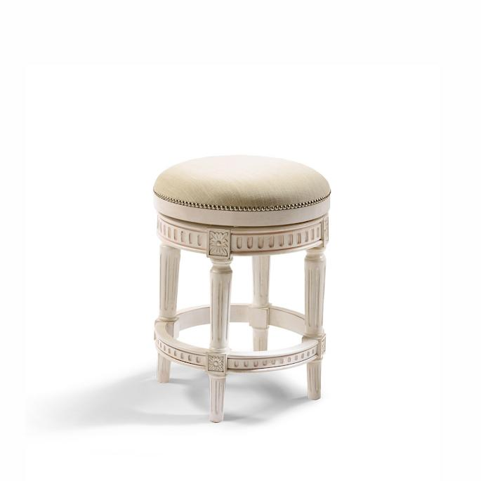 """Manchester Swivel Counter Height Backless Bar Stool (24""""H seat) in ."""