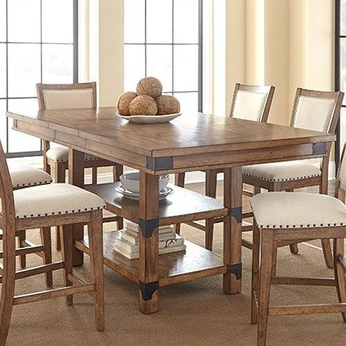 Morris Home Furnishings Britta Industrial Counter Height Table .